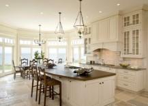 large kitchen dining bar seating
