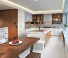 large kitchen integral seating