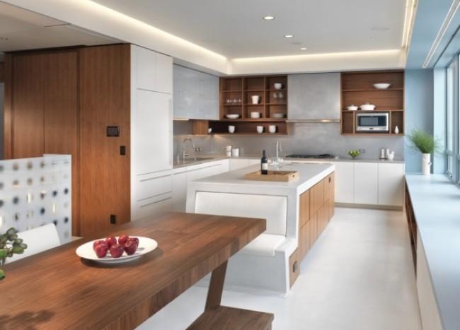 large kitchen integral seating