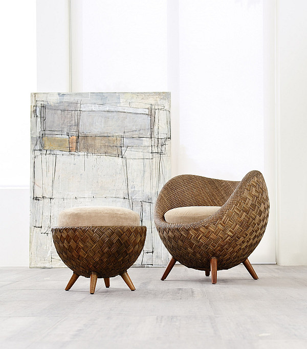 Fancy Rattan Chair La Luna Collection For Modern