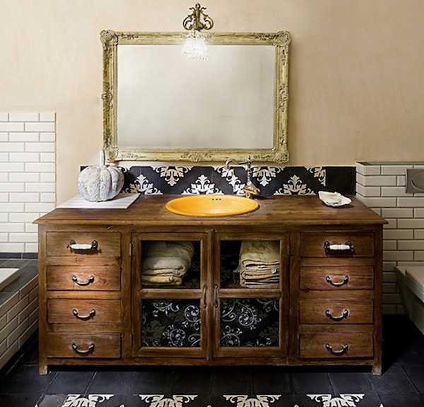 repurposed bathroom cabinets