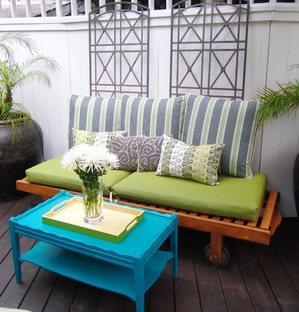repurposed outdoor wood furniture