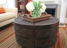 round coffee table artisan