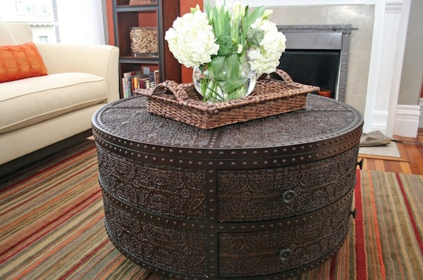 round coffee table artisan