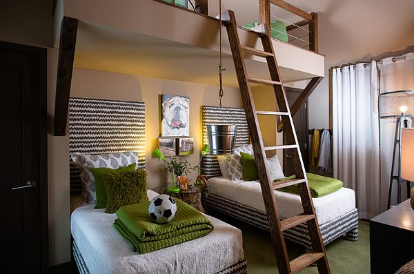 Inspiring teenage boys bedrooms for your cool kid for Boys loft bedroom ideas