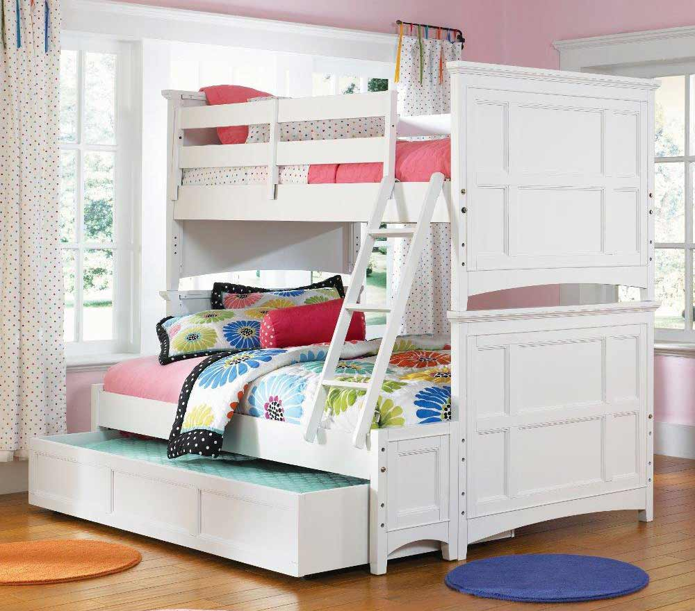 White bunk beds with stairs decoist for Bunk beds for kids with stairs