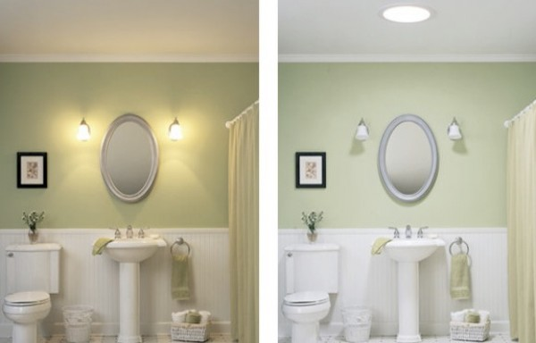 bring an eye catching appeal into your windowless bathroom