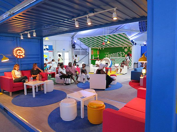 2012 DNC Google shipping containers decor - Boxman Studios