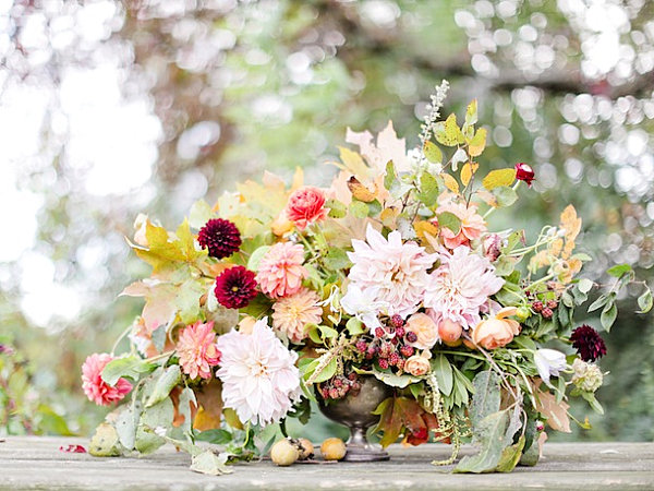 A Thanksgiving floral centerpiece
