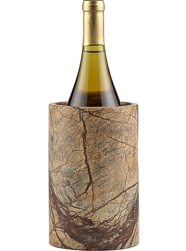 A brown marble wine cooler