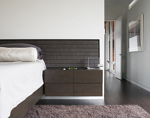 20 chic modern nightstands for a contemporary bedroom for Wall hung nightstand