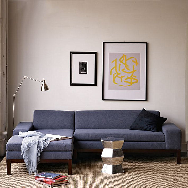 A low blue sectional sofa 20 Modern Sectional Sofas for a Stylish Interior