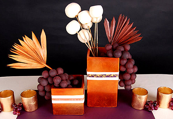 A modern Thanksgiving table setting 12 Unique Thanksgiving Decoration Ideas