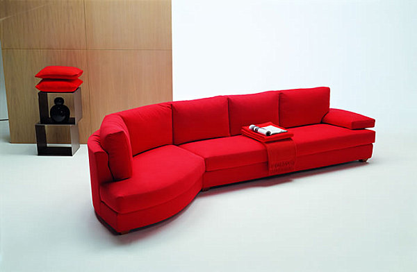View In Gallery A Red Sectional Sofa