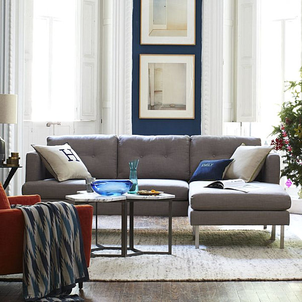 tufted sectional seating