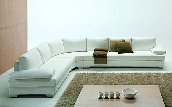 View In Gallery A White Italian Sectional Sofa