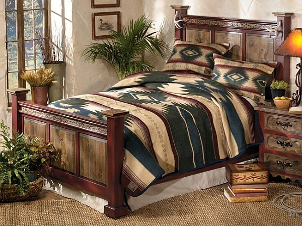 Antler Adler Wood queen size bed