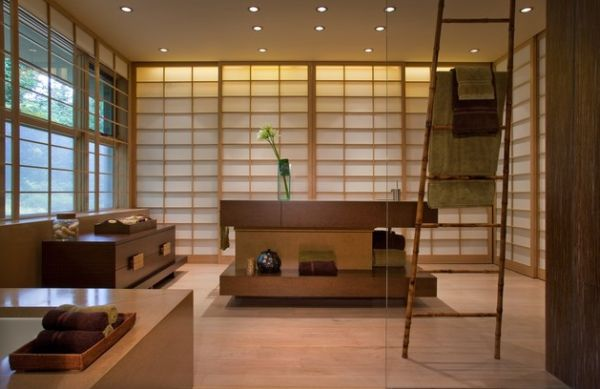 Asian styled bathroom with sleek contemporary tones 18 Stylish Japanese Bathroom Design Ideas