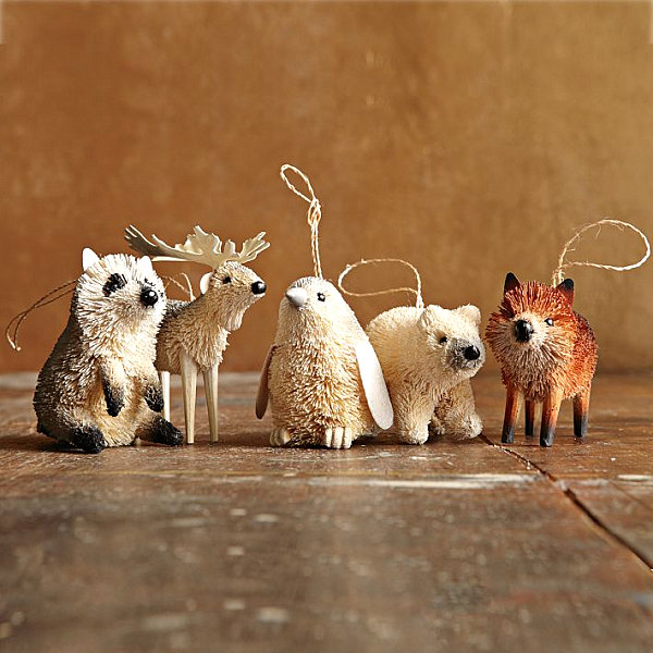 6 creature comforts - Animal Christmas Decorations