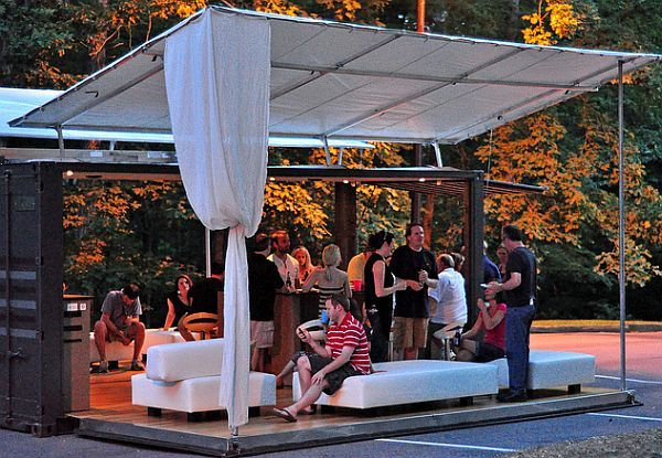 Boxman Studios Party Lounge from Shipping Containers