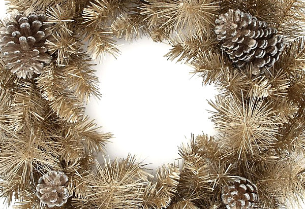 Champagne Gold Christmas Wreath