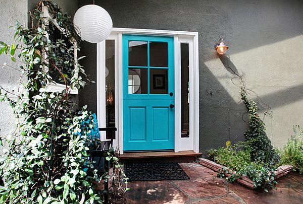 Colofrul blue entrance door
