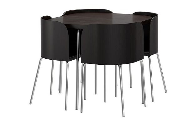 Ikea compact dining table and chairs images for Compact table and chairs set