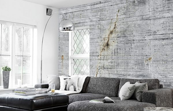 Concrete Wallpaper collection Concrete Wallpapers by Tom Haga for an Industrial Look