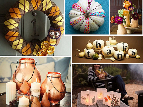 20 stylish diy thanksgiving crafts for Diy thanksgiving crafts