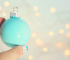 Easy paint-filled ornament DIY
