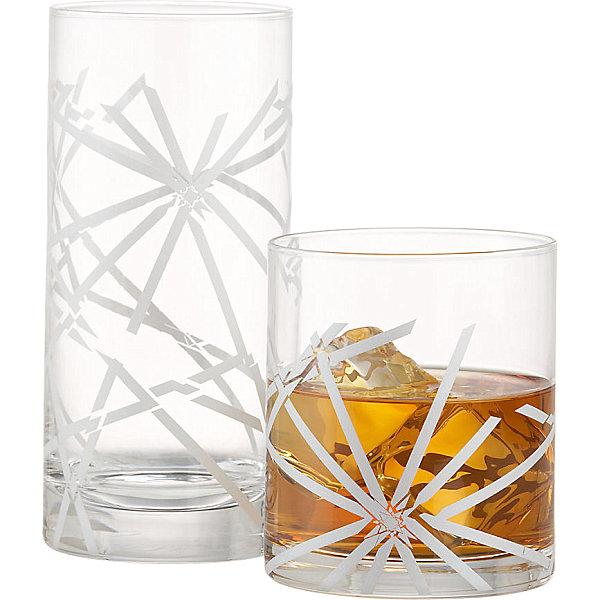 Festive drinking glasses