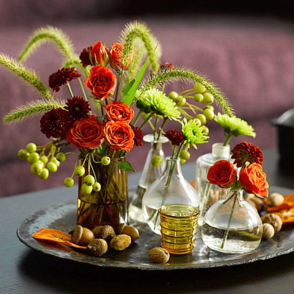 Fresh flowers for thanksgiving decoist