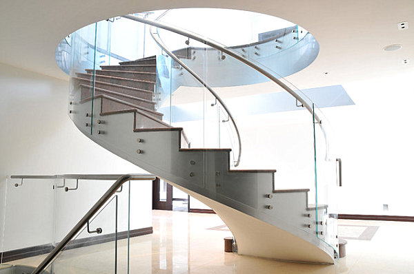 View In Gallery Glass Spiral Staircase
