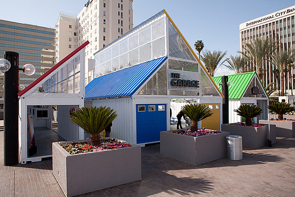 Google at TED - shipping container stand