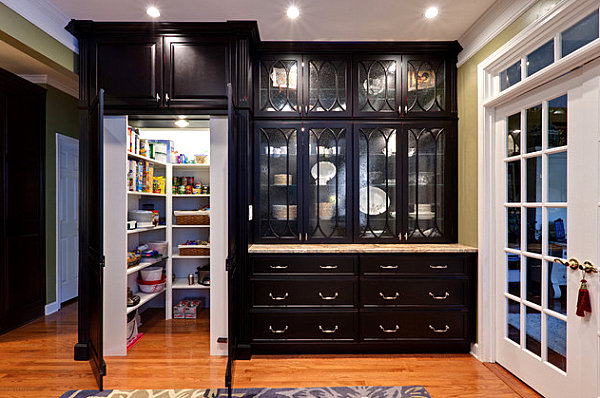 view in gallery hidden pantry design