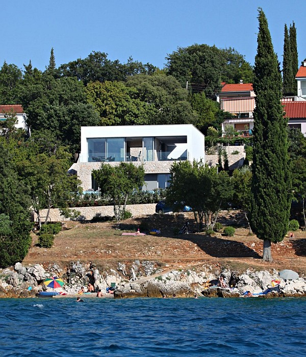 KRK Island Villa Contemporary Island Vacation Home at the Adriatic Sea on Krk Island