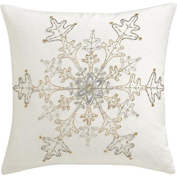 Metallic Snowflake Christmas Pillow Decoist