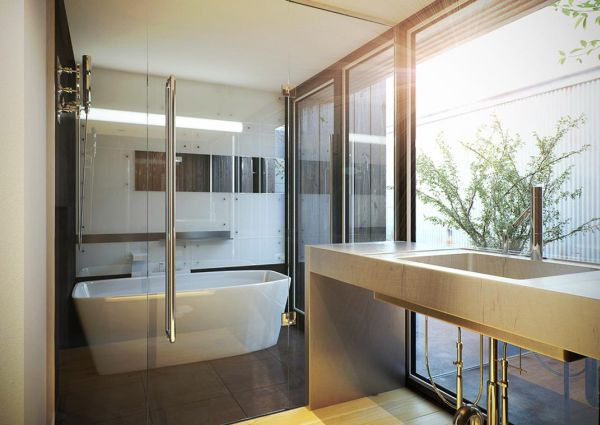 Merveilleux View In Gallery Minimalist White Japanese Contemporary Bathroom