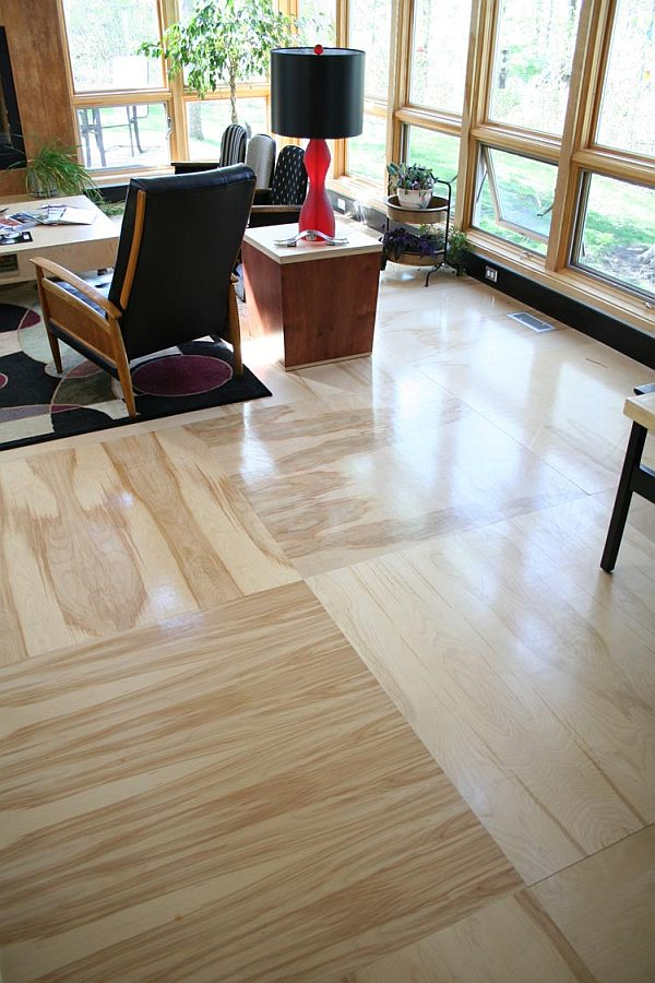 Plywood flooring four step plan to affordable flooring for Carrelage faux parquet