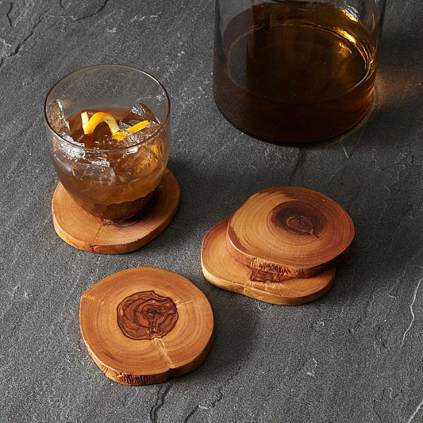Olivewood coasters for fall