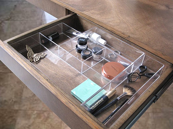 View in gallery One makeup drawer organizer