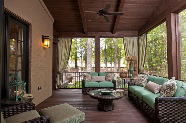 Porch curtains for privacy
