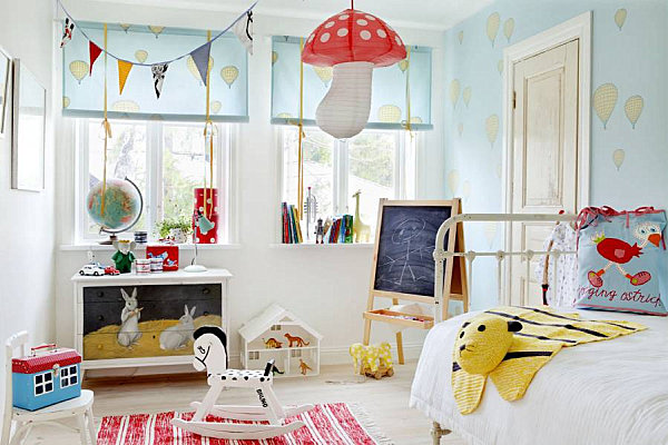 Scandinavian bedroom designs for your modern interior for Colourful childrens bedroom ideas