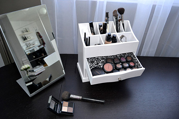 Shelf Top Makeup Storage Solution