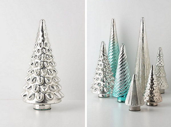 5 metallic shine - Mercury Glass Christmas Decorations