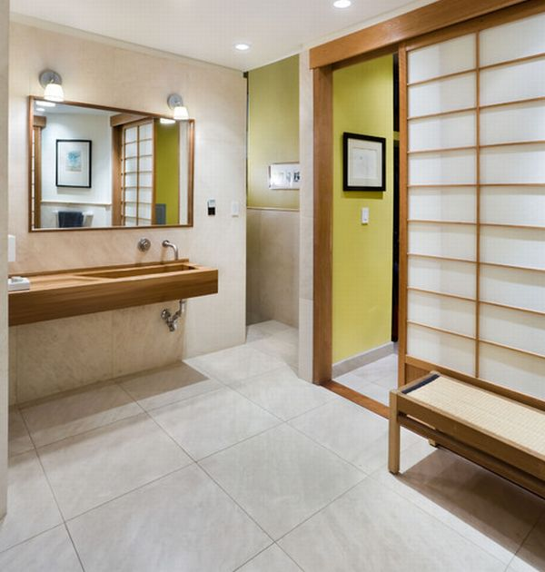 view in gallery simple master bathroom in new york loft with strong japanese overtones