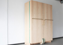 Ergonomic Walk-In Closet Opens Up Into a Stylish Mini Fitting Room