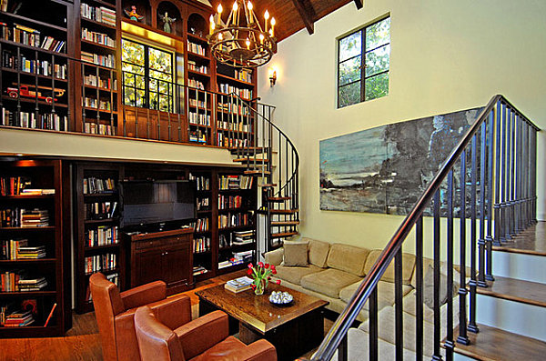 Spiral-staircase-in-a-library