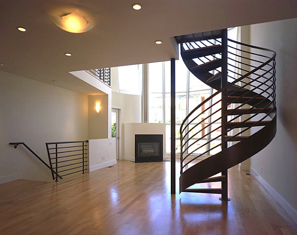 Spiral staircase with multiple bars Make a Statement with Spiral Stairs