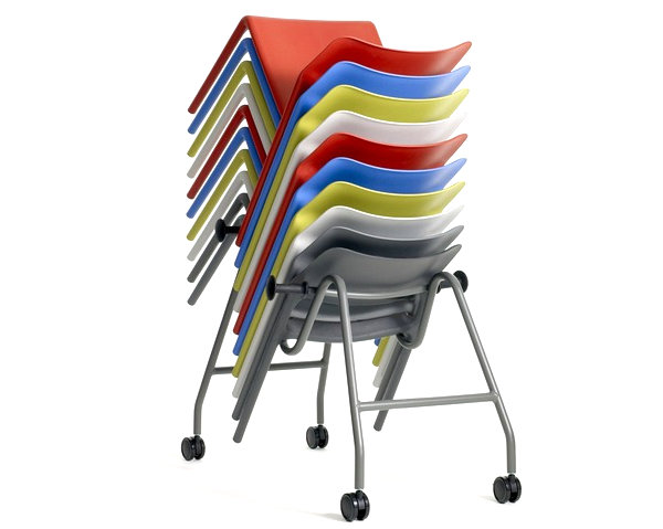 Stackable-modern-chairs-for-the-kitchen